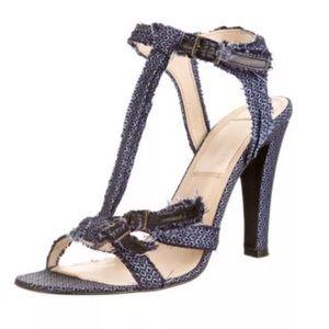 Lanvin.   Blue denim sandals. 40 EUC